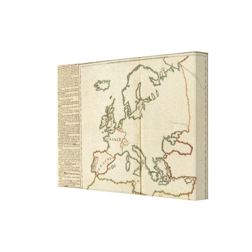 Europe 32 stretched canvas print