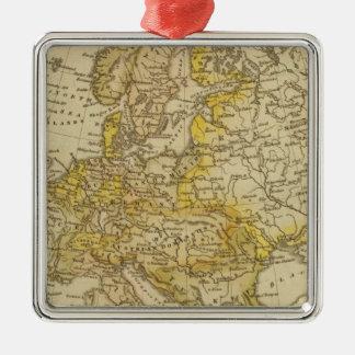 Europe 39 square metal christmas ornament