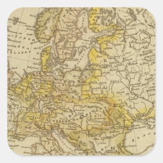 Europe 39 square sticker