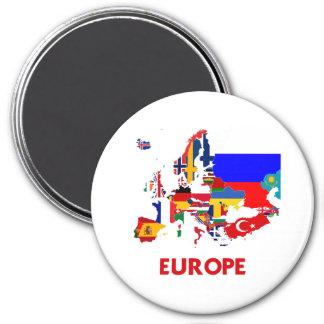 EUROPE 3 INCH ROUND MAGNET