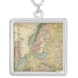 Europe 49 square pendant necklace