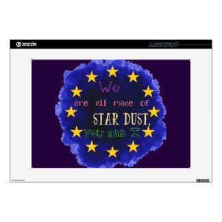 """Europe - a star map decals for 15"""" laptops"""