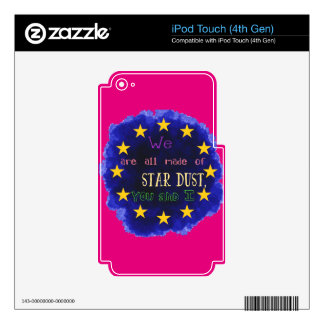 Europe - a star map iPod touch 4G skin