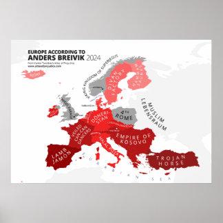 Europe According to Anders Breivik Poster