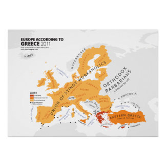 Europe According to Greece Poster
