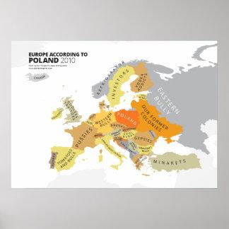 Europe According to Poland Poster