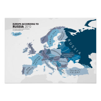 Europe According to Russia Poster