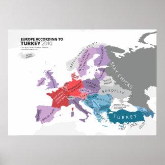Europe According to Turkey Poster