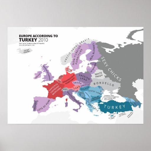 Europe According to Turkey Print
