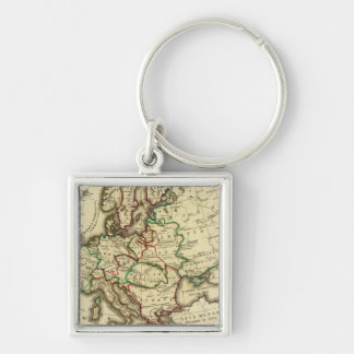 Europe ancient, modern keychain
