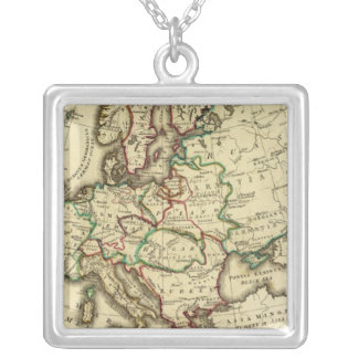 Europe ancient, modern square pendant necklace
