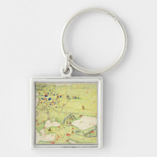 Europe and Central Asia Keychain