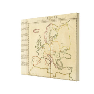 Europe and Major Cities Gallery Wrapped Canvas