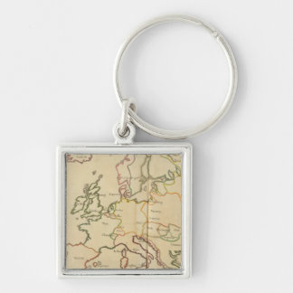 Europe and Major Cities Keychains
