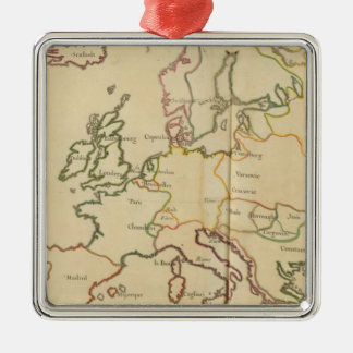 Europe and Major Cities Christmas Ornaments
