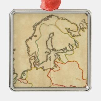 Europe and Major Cities Outline Christmas Tree Ornaments