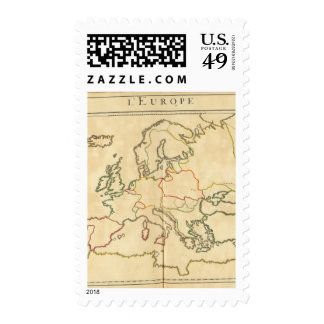Europe and Major Cities Outline Stamp