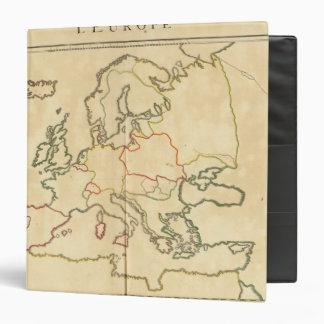 Europe and Major Cities Outline Vinyl Binders