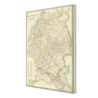 Europe and Russia Canvas Print
