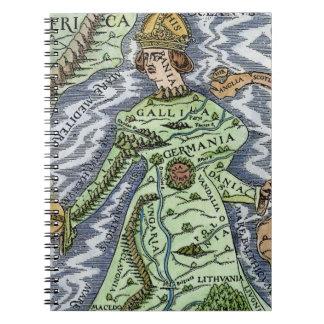 EUROPE AS A QUEEN, 1588 NOTEBOOK