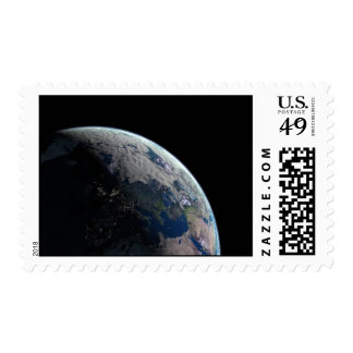 Europe-at-night1209 PLANET EARTH SPACE EUROPE NIGH Postage