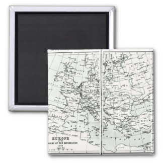 Europe, at the start of the Reformation 2 Inch Square Magnet