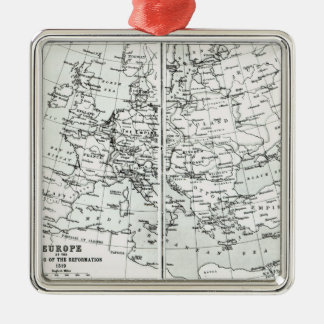 Europe, at the start of the Reformation Metal Ornament