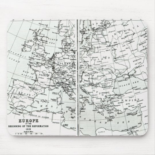 Europe, at the start of the Reformation Mouse Pad