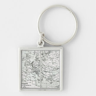 Europe, at the start of the Reformation Silver-Colored Square Keychain
