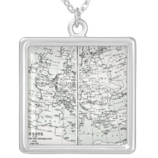 Europe, at the start of the Reformation Square Pendant Necklace