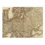 Europe Atlas Map Postcard