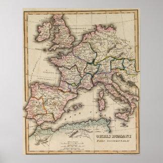 Europe Atlas Map Poster
