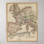 Europe Atlas Map Print