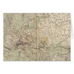 Europe Atlas Map showing railroads Card