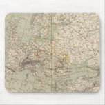 Europe Atlas Map showing railroads Mouse Pad