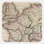 Europe Atlas Map Square Sticker