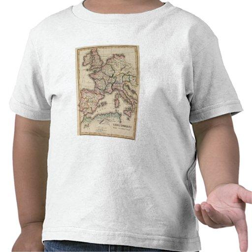 Europe Atlas Map Tshirts