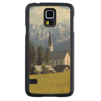 Europe, Austria, Gosau. The spire of the church Carved Maple Galaxy S5 Slim Case
