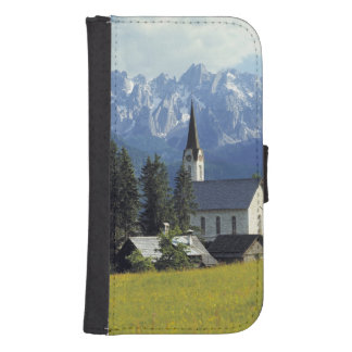Europe, Austria, Gosau. The spire of the church Galaxy S4 Wallet Case
