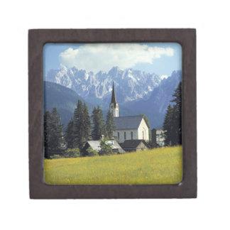 Europe, Austria, Gosau. The spire of the church Gift Box