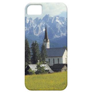 Europe, Austria, Gosau. The spire of the church iPhone SE/5/5s Case