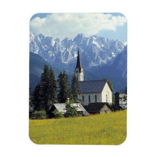 Europe, Austria, Gosau. The spire of the church Rectangular Photo Magnet