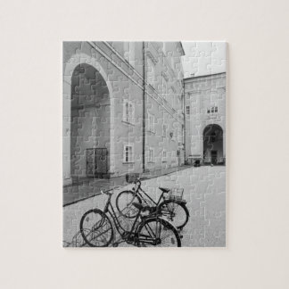 Europe, Austria, Salzburg. Bicycles in the Jigsaw Puzzle