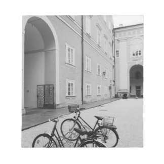 Europe, Austria, Salzburg. Bicycles in the Notepad