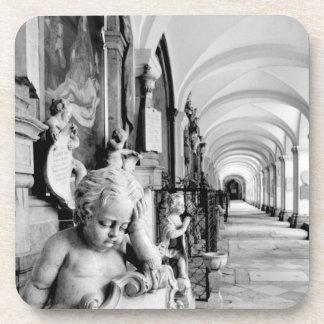 Europe, Austria, Salzburg. Cherub and monument 2 Coaster