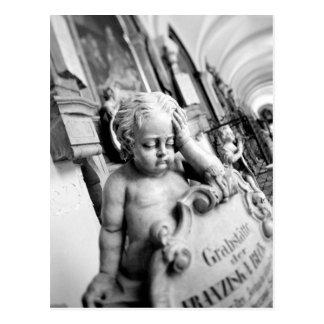 Europe, Austria, Salzburg. Cherub and monument 3 Postcard