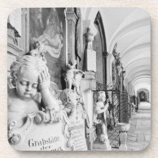 Europe, Austria, Salzburg. Cherub and monument Beverage Coaster