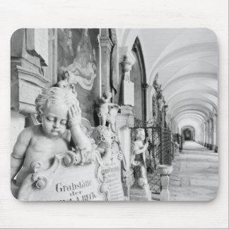 Europe, Austria, Salzburg. Cherub and monument Mouse Pad