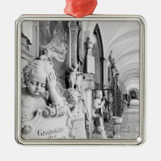 Europe, Austria, Salzburg. Cherub and monument Christmas Tree Ornaments