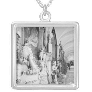 Europe, Austria, Salzburg. Cherub and monument Silver Plated Necklace